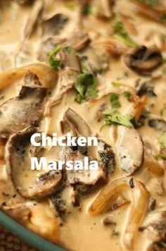 Chicken Marsala Recipe for Casual Entertaining with your Favorite Pasta - Chicken Recipes Turkey Recipes, Chicken Recipes, Steak Recipes, Dinner Recipes, Recipe Chicken, Cake Recipes, Chicken Mushroom Recipes, Pizza Recipes, Comida Latina