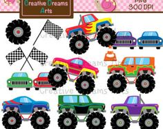 Transportation clip art Cute  Vehicles transport от YenzArtHaut