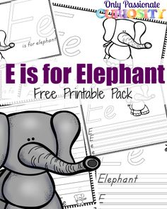 E is for Elephant {ABCs for Me} -