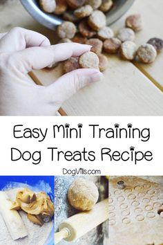 Looking for the perfect homemade mini training dog treats recipe? You'll love this easy recipe! Find out how to make it! You will find interesting recipes for dog on my account. Puppy Treats, Diy Dog Treats, Homemade Dog Treats, Healthy Dog Treats, Dog Biscuit Recipes, Dog Food Recipes, Dog Training Treats, Training Pads, Crate Training