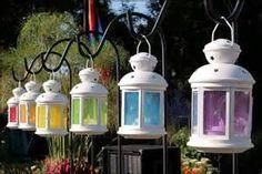 Rainbow Wedding Theme - Lanterns