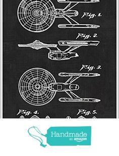 Vintage Patent Star Trek USS Enterprise, Patent Poster, Blueprint Poster, Star Wars Art, star wars print garage decor man cave art, Gift, Poster Print, Patent from Paper Blast https://www.amazon.com/dp/B01N5EGXAZ/ref=hnd_sw_r_pi_dp_5D6mzbN40FRJX #handmadeatamazon