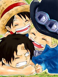Sabo,Portgas D. Ace,Monkey D. Luffy - One Piece,Anime