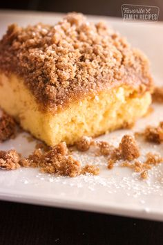 This Cake Mix Coffee Cake is so easy and yummy! I am a big fan of quick desserts, especially treats with buttery cinnamon and sugar crumb toppings. Cake Mix Coffee Cake Stacie Martinez Cakes This Cake Mix Coffee Cake is so easy and yummy! Cake Mix Desserts, Cake Mix Recipes, Just Desserts, Baking Recipes, Dessert Recipes, Quick Recipes, Yummy Recipes, Cake Mix Coffee Cake, Crumb Coffee Cakes