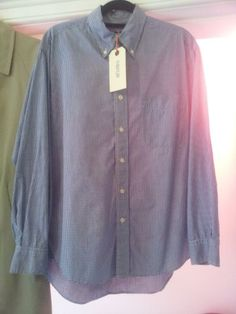 gorgeous 60's mod style blue and white check shirt £12
