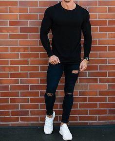 Trendy Mens Fashion, Stylish Mens Outfits, Casual Outfits, Men Casual, Men's Fashion, Fashion Trends, Black Outfits, Fashion 2020, Street Fashion