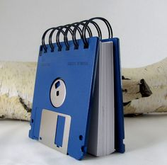 Genius! Love the analog-meets-digital vibe of this. Great way to repurpose those old disks, too. #brit