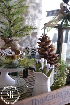 I'm excited to invite you to stop no. 6 in my series... Creating Christmas Memories with Vignettes. I know you'll love this Farmhouse Christmas Vignette. Be sure to learn how to create your own and be inspired.