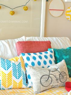 DIY Stenciled Pillow from Paint-A-Pillow! #pillows #stenciledprojects #homedecor