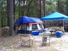 This is how we used to camp at Santee State Park campground, SC