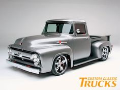 old ford trucks 56 Ford Truck, Old Ford Trucks, Pickup Trucks, Diesel Trucks, Ford Diesel, F100 Truck, Hot Rod Trucks, Cool Trucks, 1956 Ford F100