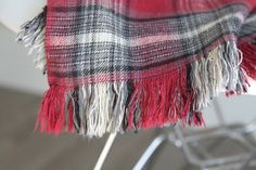 This DIY fringed flannel throw is pretty, cozy, and easy to make! It's the perfect, inexpensive handmade Christmas gift idea.