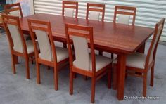 Woodworking Furniture Plans, Diy Woodworking, Furniture Projects, Kitchen Furniture, Dinning Table, Dining Chairs, Wood Chair Design, Luxury Office, Hardwood