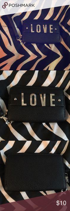 Love purse wallet Black purse wallet great condition Bags Clutches & Wristlets