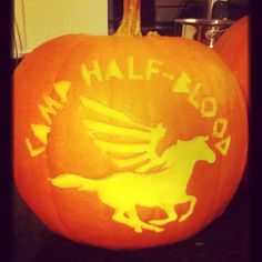 Finished carving my pumpkin today! :D #nostencil #camphalfblood #percyjackson