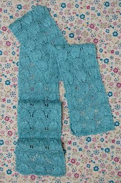 Get the full pattern for the April Showers Scarf on AllFreeKnitting. If you've never tried lace knitting before, don't be intimidated!  This feminine pattern is simple enough for newbies, but still intricate enough for experienced knitters.