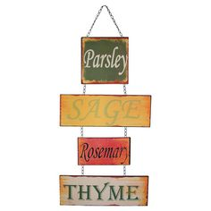 A charming addition to your kitchen or dining room, this metal sign features a typographic design and chain accents.   Product: ...