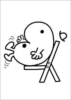 Mr. Men Tegninger til Farvelægning. Printbare Farvelægning for børn. Tegninger til udskriv og farve nº 49