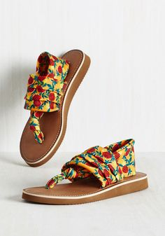 Sandals with a super cute pineapple pattern that'll cheer you up.