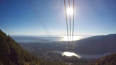 View over Vancouver from Grouse Mountain - Canada
