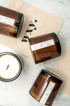 Candles and Diffusers Hand-Poured in the UK to give you experiences only smells can create. Black Candles, Soy Candles, Scented Candles, Bottle Candles, Candle Packaging, Candle Labels, Black Packaging, Candle Pics, Minimalist Candles