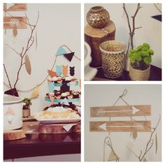 Emerson Grey Designs, Little Indian {Baby Shower}, blog feature, arrow decor, DIY feathers, gold accents. Special baby shower for a special mommy! This is PERFECT! If I end up combining my baby shower & her birthday this will the perfect baby shower theme to go with her Indian/tribal birthday theme!!! Yay!!!