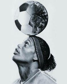 Ronaldinho - Do it yourself Brazil Football Team, Best Football Players, Football Art, Soccer Players, Football Tattoo, Ronaldo Football, Legends Football, Ronaldinho Wallpapers, Soccer Photography