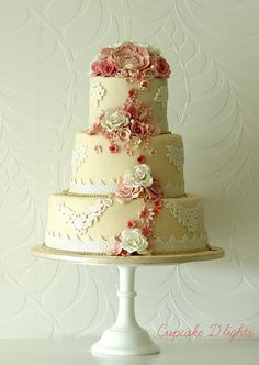 Vintage Lace Wedding Cakes | vintage wedding cake | Flickr - Photo Sharing!