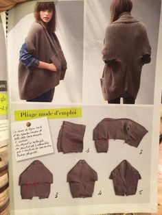 Simple but stylish cardigan (DIY) / Simple patterns / hands - patterns, alteration of clothing, interior decoration with their hands - on Second Street Cardigan Fashion, Knit Fashion, Clothes Crafts, Sewing Clothes, Loom Knitting, Knitting Patterns, Vetements Shoes, Knit Vest Pattern, Crochet Wool