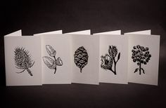 Hand Printed Lino Cut Card Collection by AliAffleckCards.