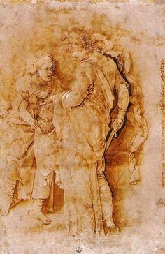 Andrea Mantegna Judith with her Maid Italy (c. 1470) Gabinetto Disegni e Stampe degli Uffizie, Florence