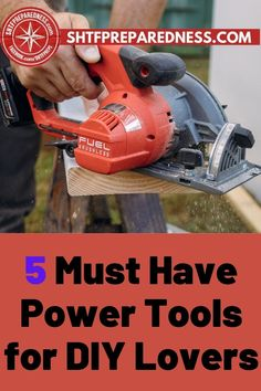 You are going to love these five must-have power tools for DIY lovers. If you are one of those who like to keep lots of tools in storage so that you are well prepared for any DIY jobs and tasks you may have, this post by SHTF Preparedness will help you find your next DIY tool. Check out this post now for more information now. #besttools #bestdiytools #toolsfordiy #topdiytools #homeimprovementtools Tool Box Diy, Diy Tools, Best Money Saving Tips, Saving Money, Benchtop Router Table, Perfect Joint, Types Of Saws