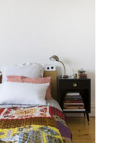 Eclectic boho style bedroom - use vintage kantha quilt to recreate this look