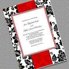 Art Deco Background Wedding Invitation - Free Printable