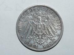 Belle pièce de monnaie ancienne en ARGENT DEUTSCHES REICH 1908