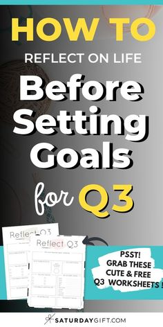 Before setting new goals, it's important to review your life. Here's a Q3 reflection worksheet {Free Printable} that can help you do just that!  Grab this cute printable and have a tool to help you plan.  #tips #planning #printable #howto #goals Planner Sheets, Planner Pages, Life Planner, Printable Planner, Printables, Free Printable, How To Be More Organized, Cute Pens, Best Planners