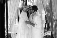 We were married underneath a palapa at Casa Violeta.  We exchanged custom rings by Philip Crangi.