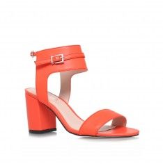 'Kindly' orange sandals with ankle cuff by Carvela Kurt Geiger