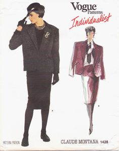 80s Vogue Individualist Pattern 1428 Claude Montana by CloesCloset, $22.00