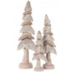 Deco kerstbomen J-Line #kerstbomen #decoratie #jline #kerst #glitter #strass #bont #kerstboompje