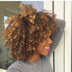 Love this hair color! Natural Hair Highlights, Blonde Natural Hair, Honey Blonde Highlights, Natural Hair Tips, Be Natural, Natural Texture, Blonde Afro, Natural Baby, Long Curly Hair