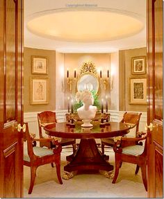 Visits With Carolyne Roehm,dining room, house in NYC