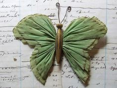 crepe paper butterfly...now I have something to make out of all those old clothes pins.