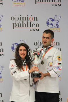 2 of our finest students & winners of the Laureate Culinary Cup - Mexico City Septemeber 2012