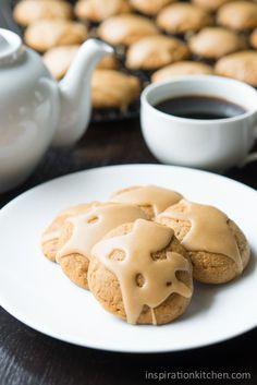 Applesauce Cookies Caramel Frosting   Inspiration Kitchen #applesauce #cookies #caramel