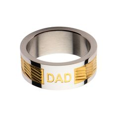 Profitez de Rabais Exceptionnels! Sélectionnez des styles dans notre boutique. Livraison gratuite Canada et USA  http://www.newstylecanada.com  Gold IP Band with DAD Engraved Ring  #bijoux #bijouxhomme #montrealfashion #bijou #bijouterie #inoxjewelrycanada #jewelry #paniercadeau #longueuil #boutiquebijoux #blackfriday #inoxjewelry #newstylecanada #bijouxfemme #bijouterieenligne