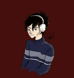 I haven't posted any art in the past three days 'cause I got kinda busy... Anyway, Nico di Angelo in winter clothes requested by @cloudandalora... Sweaters+PJ characters= a happy me. By @rohinicupcake