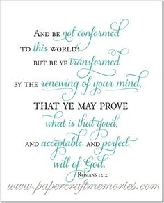My word and scripture for 2014- Romans 12:2- Free printable on my blog