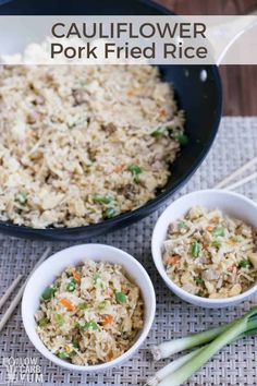 Chinese Cauliflower Pork Fried Rice Recipe – Keto Paleo A keto friendly paleo Chinese cauliflower pork fried rice recipe that's much healthier than the traditional take-out. Enjoy it as a light meal or as a side dish to dinner. Rice Recipes, Side Dish Recipes, Pork Recipes, Asian Recipes, Keto Recipes, Healthy Recipes, Healthy Food, Easy Recipes, Low Carb Side Dishes