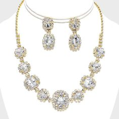 Jewelry & Watches Brave Stunning Creme Pearls Cz Crystals Choker Necklace Earrings Set Bridal Pageant Fashion Jewelry